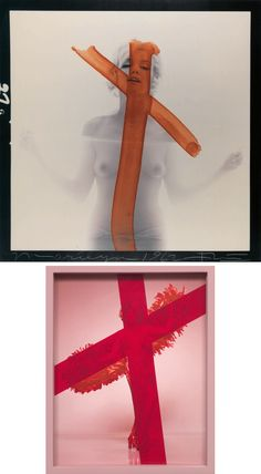 Bert Stern, Marilyn Crucifix II, 1962 / Elad Lassry, Red Cross, 2008