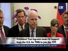 蔡英文會美參院團 籲美支持我入TPP President Tsai met with U S  Senator McCain—宏觀英語新聞