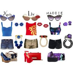 """""""Kate, Liv, Maddie: Who Likes Short Shorts?"""" by pandacat on Polyvore"""