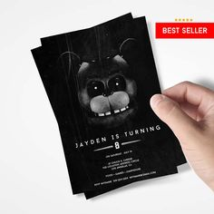 Five Nights At Freddy's Invitations Party Birthday