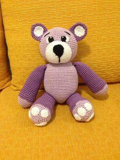 Pequeno urso lilás