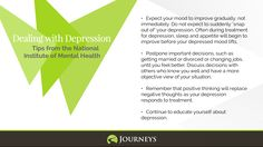 Depression Tips 1 from the National Institute of Mental Health