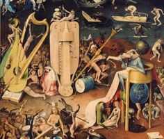 """""""The Garden of Earthly Delights"""" is the modern title given to a triptych painted by the Early Netherlandish master Hieronymus Bosch, housed in the Museo del Prado in Madrid. It dates from between 1490 and 1510, when Bosch was between about 40 and 60 years old, and is his best-known and most ambitious surviving work."""