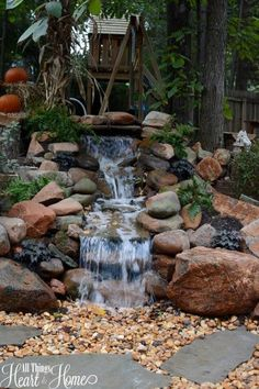 pondless waterfall. If I can't live near the sound of a river, we should put one of these in our yard.