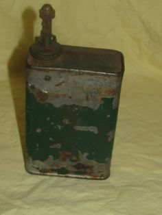 Vintage Military WWII Lub Oil Can M.G. Army Browning Machine Gun Lubricating