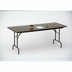 "High Pressure Folding Tables with 3/4"" Core Size: 36 x 72, Color: Dove Gray by Correll, Inc.. $164.04. CF3672PX-13 Size: 36 x 72, Color: Dove Gray Features: -Stands at fixed height of 29''.-1 1/8'' one piece Steel Apron.-Mar-Proof plastic foot caps & edge molding.-Automatic lock-open mechanism.-Resistant to humidity and warping. Construction: -1'' 18 gauge steel pedestal legs. Dimensions: -High pressure top on 3/4'' high density particle board core with backer sheet."
