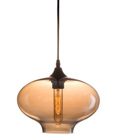 This Borax Ceiling Lamp Black & Amber by Zuo is perfect! #zulilyfinds