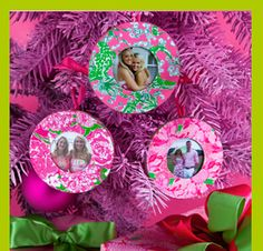 Lilly Pulitzer Photo Ornaments  #LillyHoliday