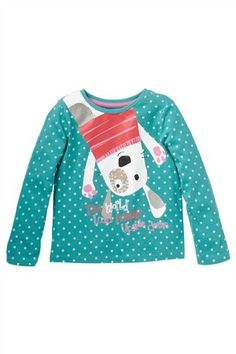 Buy Teal Dog Top (3mths-6yrs) from the Next UK online shop