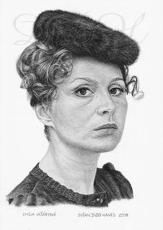 Emília Vášáryová, portrét Dušan Dudo Hanes