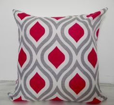 Retro patterned cotton cushion Fuchsia pink, grey and ecru colours. geometric home accessories, geometric home decor, vintage geometric home, geometric home ideas, geometric small pieces, geometric decor, geometric white,geometric blue,geometric,black,geometric,grey,geometric wood,geometric pillows,geometric cushions,geometric yellow,geometric on sale,geometric living room,geometric bedroom,geometric office