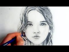 How To Draw A Female Face: Step By Step - YouTube