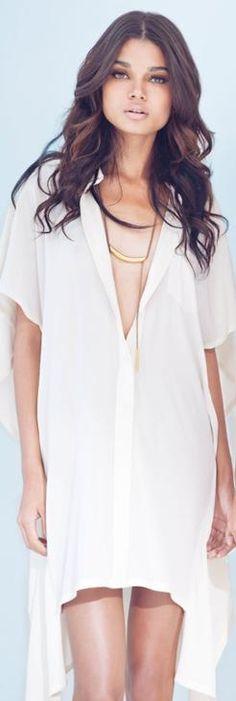 white t-shirt dress ♥