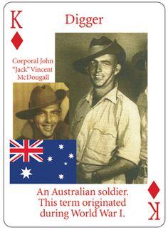 Digger - An Australian soldier. This term originated during World War 1.
