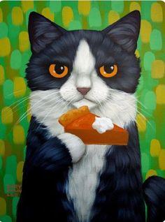 Cary Chun Lee | Cat and Pumpkin Pie
