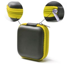 Case Star ® Black Color Square Shaped Carrying Hard Case Storage Bag for MP3/MP4 Bluetooth Earphone Earbuds with Mesh Pocket, Zipper Enclosure, and Durable Exterior+ Case Star Velvet Bag (Square Earphone Case - Black/Yellow) Case Star http://www.amazon.com/dp/B00GOJPWEA/ref=cm_sw_r_pi_dp_4wIvub10V4SPX