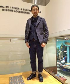Beams style, Japanese style. Great tones and layering with a slight hint of texture. Great fit, my kind of fit.