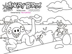 Free Coloring Pages For Girls Angry Birds
