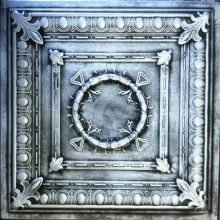 R 47 Styrofoam Ceiling Tile 20x20 - Antique Silver  There are 2 things that you may find hard to believe about this tile. 1) Made of Styrofoam 2) It can cover popcorn ceiling.