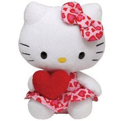d2cf43a32cd TY Beanie Baby - HELLO KITTY (HEART DRESS with Heart - 6.5 inch)