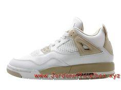 sale retailer e8464 e93cc Air Jordan 4 Retro GS ´Linen Sand´ 487724-118 Femme Enfant Jordan pas cher  Shoes Blanc-Jordan Officiel Site,Boutique Air Jordan 2017!Accept Paypal!