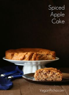 Spiced Apple Cake with Salted Caramel. Vegan Recipe - Vegan Richa