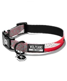Hand Made Dog Collar by Oh My Pawd Christmas Candy Collar for Pets Size Large 1 Inch Wide and 17-25 Inches Long