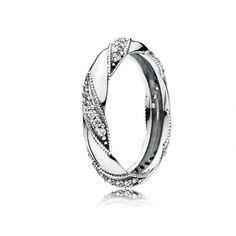 Кольца : Кольцо из серебра Лента любви