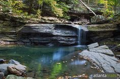 Waterfalls Flow through Cloudland Canyon on the Sitton Gulch Hiking Trail
