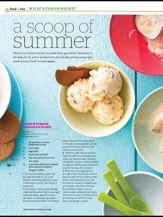Peach & toasted almond ice cream