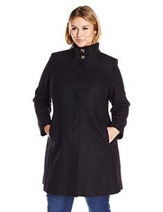 """Product review for Via Spiga Women's Stand Collar Plus Walker.  - Classic wool stand collar coat! fitted on top with a slight A-line bottom compliments all women, and gives that chic simple look that every woman wants! best selling silhouette       Famous Words of Inspiration...""""It always rains on tents. Rainstorms will travel thousands of..."""