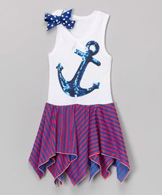Loving this Blue Anchor Handkerchief Dress - Infant, Toddler & Girls on #zulily! #zulilyfinds