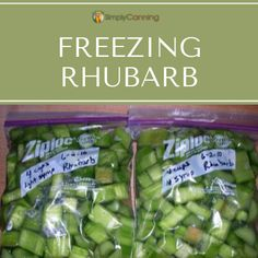 Freezer bags filled with sliced rhubarb. Apple Recipes, Meat Recipes, Freezing Apples, Grilled Meat, Tasty Dishes, Freezer, Homesteading, Gratitude, Pie