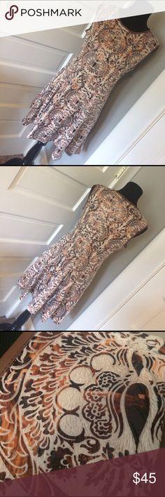 "Goa Goa Italian Designer Dress Lined! Fabulous material. Measures 16"" across waist and 18"" across bust. Goa Goa Dresses"