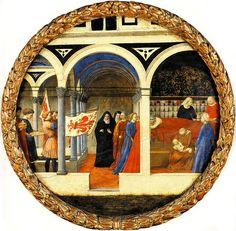 Masaccio - Desco da Parto: Scena di nascita (recto) - 1426 - Staatliche Museen, Berlino