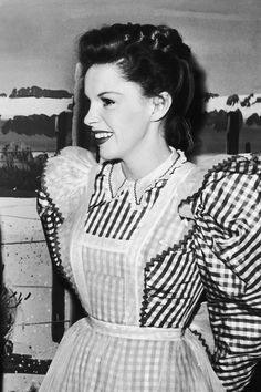 Judy Garland behind the scenes on The Harvey Girls, 1945