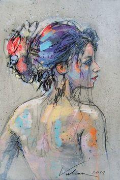 FELICIA 13 (Painting) by Raluca Vulcan