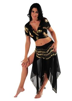 Belly dancing clothing is so feminine!