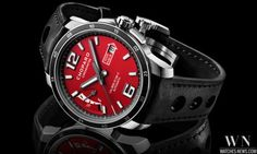 Chopard Mille Miglia 2015 Race Edition is a new sporty timepiece dedicated to the Mille Miglia classic car race, for which Chopard has been serving as partner and official timekeeper since 1988 Sport Chic, Chopard, Luxury Watches, Red Watches, Courses, Smart Watch, Racing, Accessories, Articles