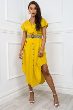 Pretty Summer Dresses, Summer Dresses For Women, Cute Dresses, Beautiful Dresses, Bridal Shower Guest Outfit, Cool Outfits, Casual Outfits, Cute Wedding Dress, Luxury Fashion