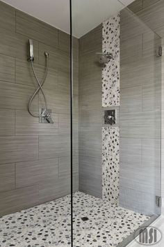 Our bathroom shower wall tile.at Home Depot.MS International, Metro Charcoal 12 in. x 24 in. Glazed Porcelain Floor and Wall Tile sq. / case), at The Home Depot - Mobile Bath Tiles, Bathroom Tile Designs, Bathroom Ideas, Tub Tile, Room Tiles, 12x24 Tile, Tile Grout, Tiling, Shower Remodel
