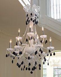 Quartz moon chandelier chandeliers horchow white black chandelier aloadofball Choice Image