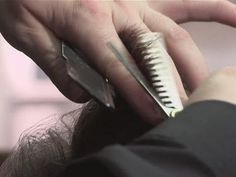 This guide shows you How To Cut With Hair Thinning Scissors Watch This and Other Related films here: http://www.videojug.com/film/how-to-use-hair-thinning-sc...