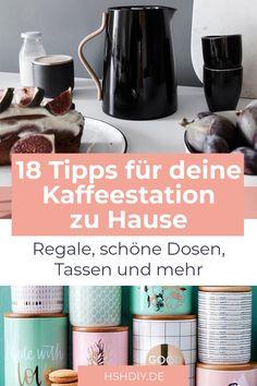 Du liebst guten Kaffee oder Tee oder sogar beides? Dann darf eine Kaffeestation in deiner Küche nicht fehlen. Mit schönen Regalen, skandinavischen Tassen und praktischer Kaffee- und Teeaufbewahrung wird deine Kaffeestation perfekt und der Kaffeegenuss einmalig. Lass dich von unseren 18 Tipps für die Kaffeestation inspirieren und entdecke jede Menge tolle Ideen rundum Kaffee und Tee. #Kaffee #Kaffeestation #Tee