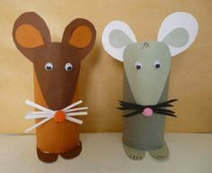 Toilet Paper Roll Crafts - Get creative! These toilet paper roll crafts are a great way to reuse these often forgotten paper products. You can use toilet paper rolls for anything! creative DIY toilet paper roll crafts are fun and easy to make. Kids Crafts, Mouse Crafts, Toddler Crafts, Preschool Crafts, Projects For Kids, Diy For Kids, Project Ideas, Summer Crafts, Craft Ideas