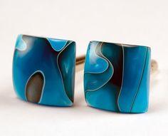 Custom Cufflinks  Persian Blue  unique custom gift by bcrdesigns, $27.00