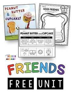 Peanut Butter and Cupcake FREEBIES and printables - friendship and Social Skills for kids and students - adorable activities and printables to go with the book Peanut Butter and Cupcake - kindergarten - first grade - second grade - pre-k unit on how to be Social Skills Lessons, Social Skills For Kids, Teaching Social Skills, Teaching Themes, Preschool Social Studies, Character Education Lessons, Education Issues, Early Education, Continuing Education