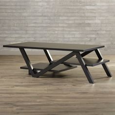 Found it at Wayfair - Clifford Coffee Table Steel Coffee Table, Cool Coffee Tables, Modern Coffee Tables, Modern Table, Iron Furniture, Steel Furniture, Table Furniture, Rustic Furniture, Furniture Buyers