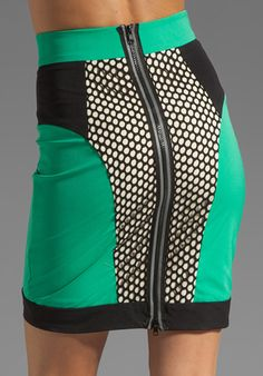 MILLY Honeycomb Mesh Panel Pencil Skirt   Reg: $325.00