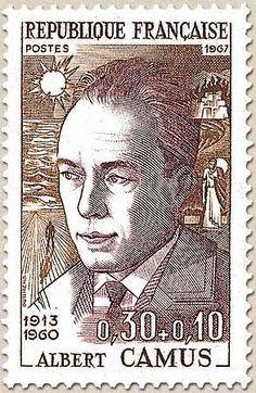 Albert Camús postage stamp - France